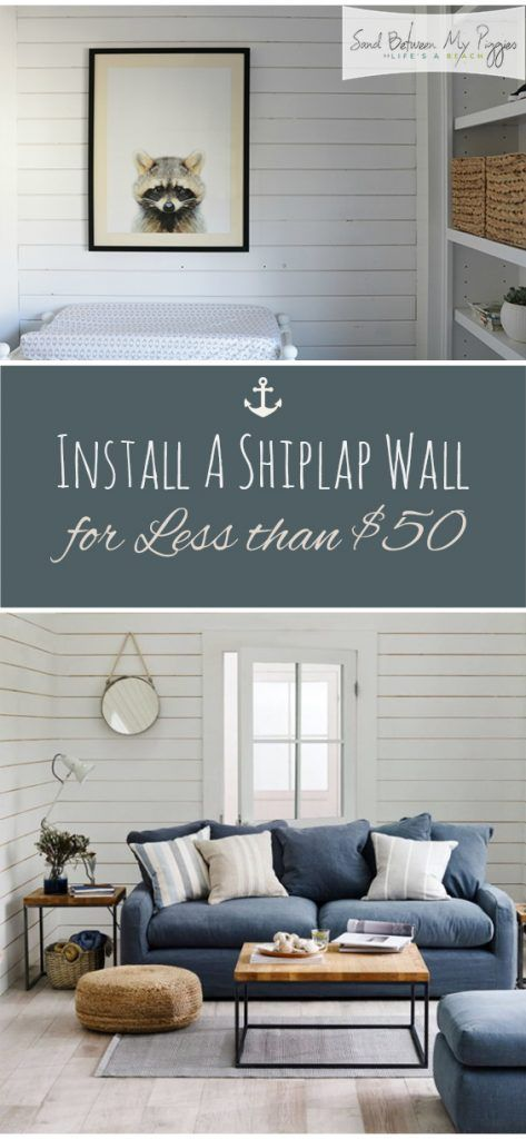 Install A Shiplap Wall for Less than $50