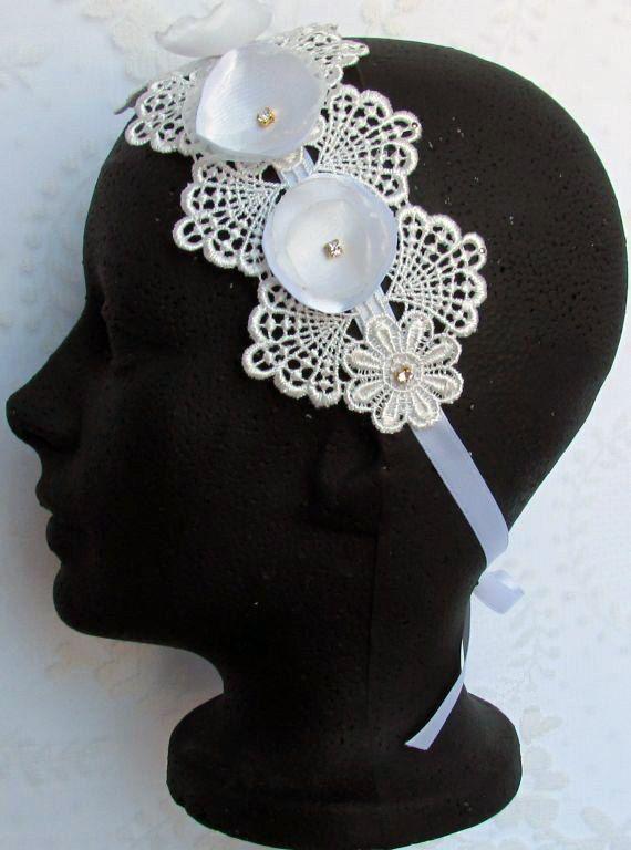 Hey, I found this really awesome Etsy listing at https://www.etsy.com/es/listing/183603245/organza-flower-headband-lace-bridal