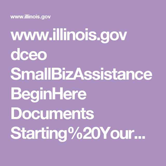 www.illinois.gov dceo SmallBizAssistance BeginHere Documents Starting%20Your%20Business%20In%20Illinois%202016.pdf