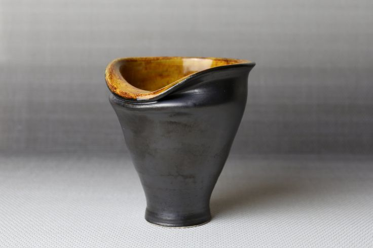 Charcoal Sunset - Altered Tumbler by WildwoodCeramics on Etsy