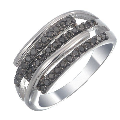 Sterling Silver Rings With Black Diamonds