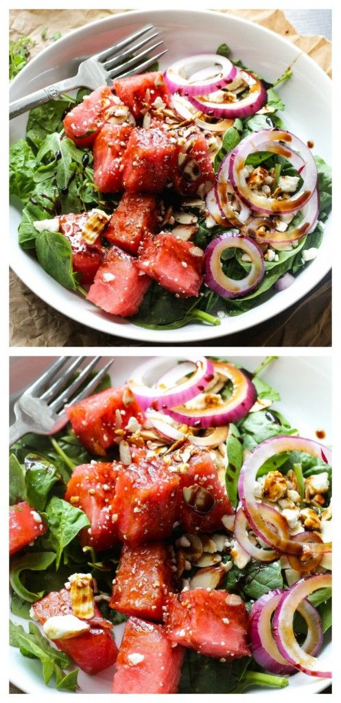 The best watermelon salad you'll ever have! It's SO good!