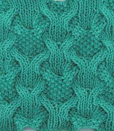 Cable mesh knitting stitch