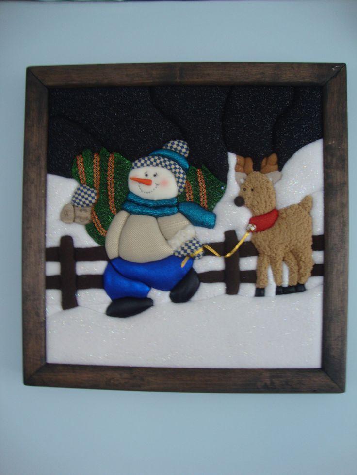 patchwork navideño sin aguja- Nieve Paseador