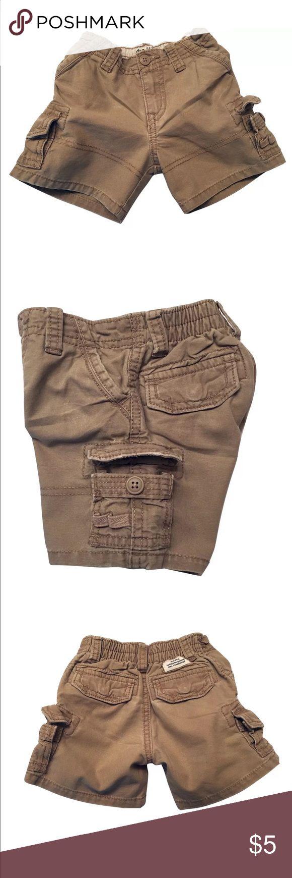 Children Place Boys Cargo Shorts Size 12m • Cargo pocket side  • Adjustable waist/elasticized waistband Children's Place Bottoms Shorts