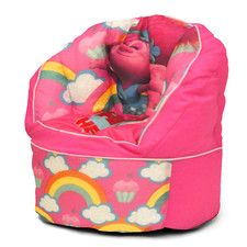 Character Toddler Kids Bean Bag Chair in Trolls