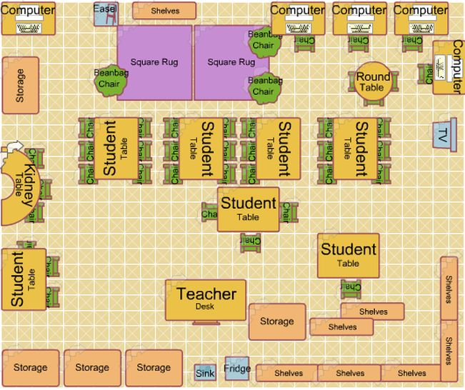 8 best classroom layout images on pinterest classroom for Classroom floor plan examples