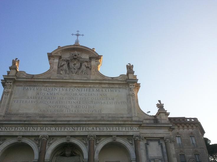 Fontana dell'acqua Paola #Rome