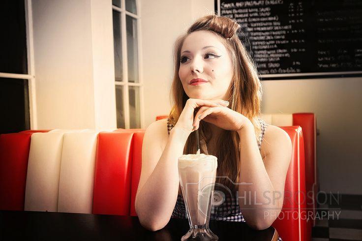 American Diner Shoot in Castleton at Buddy's with Viva La Frankie model