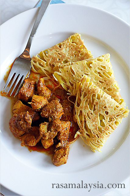 Roti Jala and Malaysian Curry Chicken