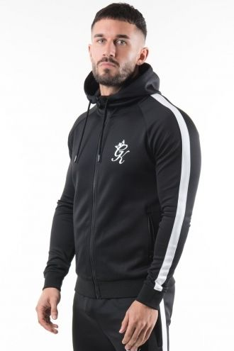 Poly Tracksuit Top - Black/White
