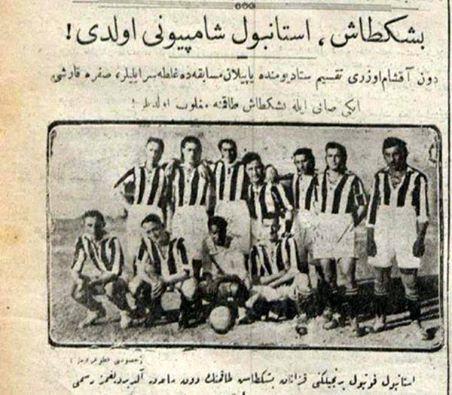 Beşiktaş'ın (Beşiktaş Jimnastik kulübü) ilk İstanbul şampiyonluğu (22 Ağustos 1924) haberi.