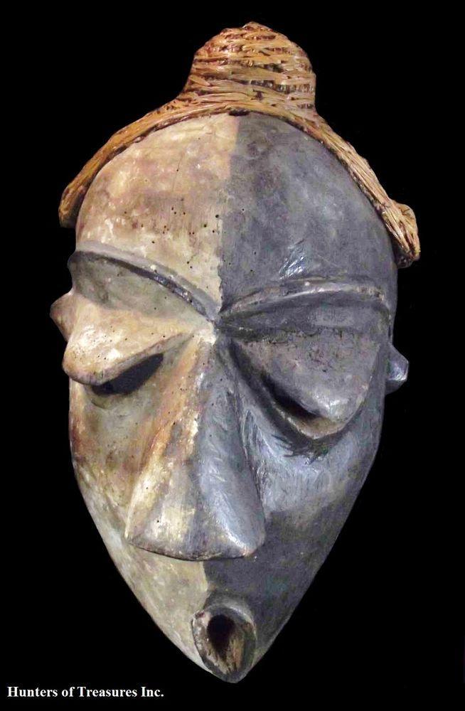 Carving Wood Deformity Pende African Mask Tribal Art D R