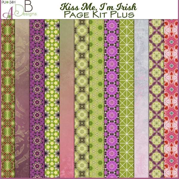 Manage Promotions :: ADB Designs :: Kiss Me, I'm Irish Page Kit Plus