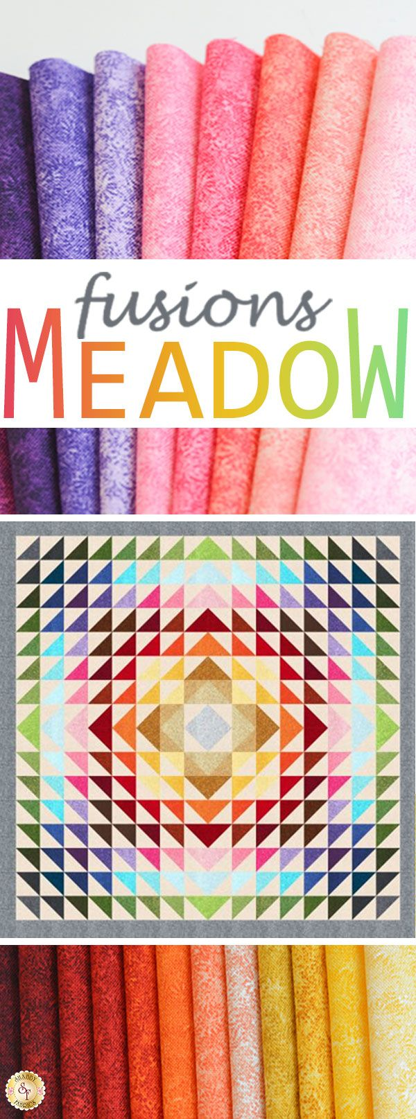 Fusions Meadow by Robert Kaufman Fabrics is a colorful fabric collection available at Shabby Fabrics.