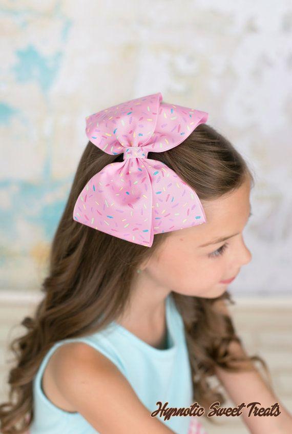 Espolvorear el arco del pelo lazo rosa por HypnoticSweetTreats