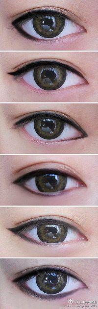 6 different eyeliners #eyes #makeup #tutorial