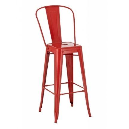 Barová židle Tolix, červená