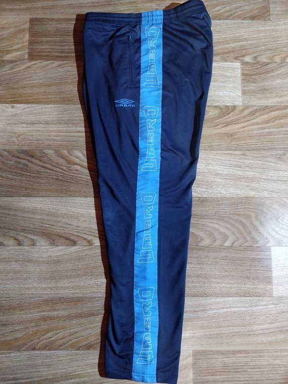 Size men XL umbro Sport Pants jogger running tracksuit pants blue vintage retro 90s