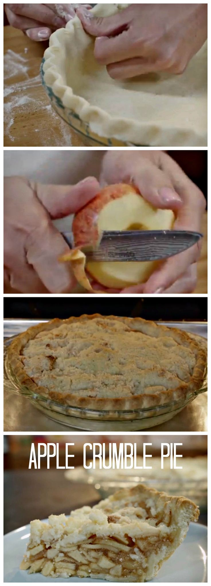 Apple Crumble Pie. Apple Crumble or Apple Pie? Why not have both? #Apple #Pie #Crumble