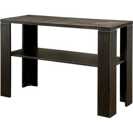 Broyhill Sofa Furniture of America Kyson Transitional Sofa Table Antique Black