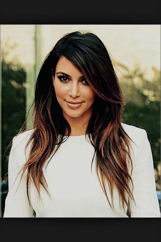 Kim Kardashian Dark Ombr 233 Hair Pinterest Kim