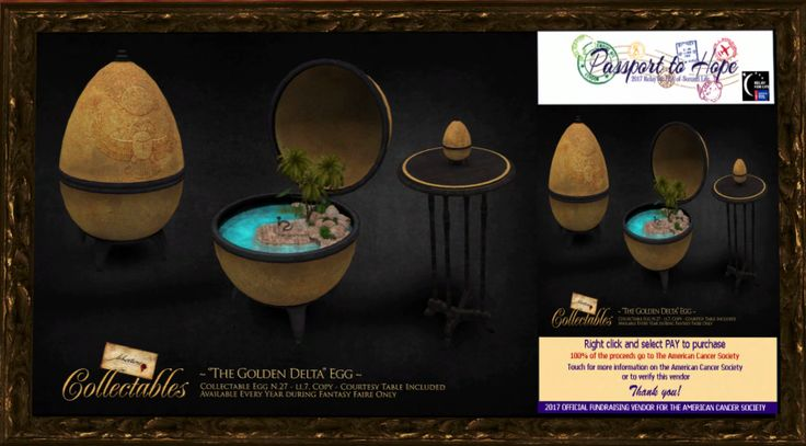 "Fallen Gods - ~Libertine~ Collectable Egg 27 ""The Golden Delta"" - Fantasy Faire: The Rose http://maps.secondlife.com/secondlife/FF%20The%20Rose/67/102/42"