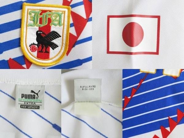 サッカー日本代表 1993AWAY長袖ユニフォーム#11三浦知良 カズ Lサイズ_画像3