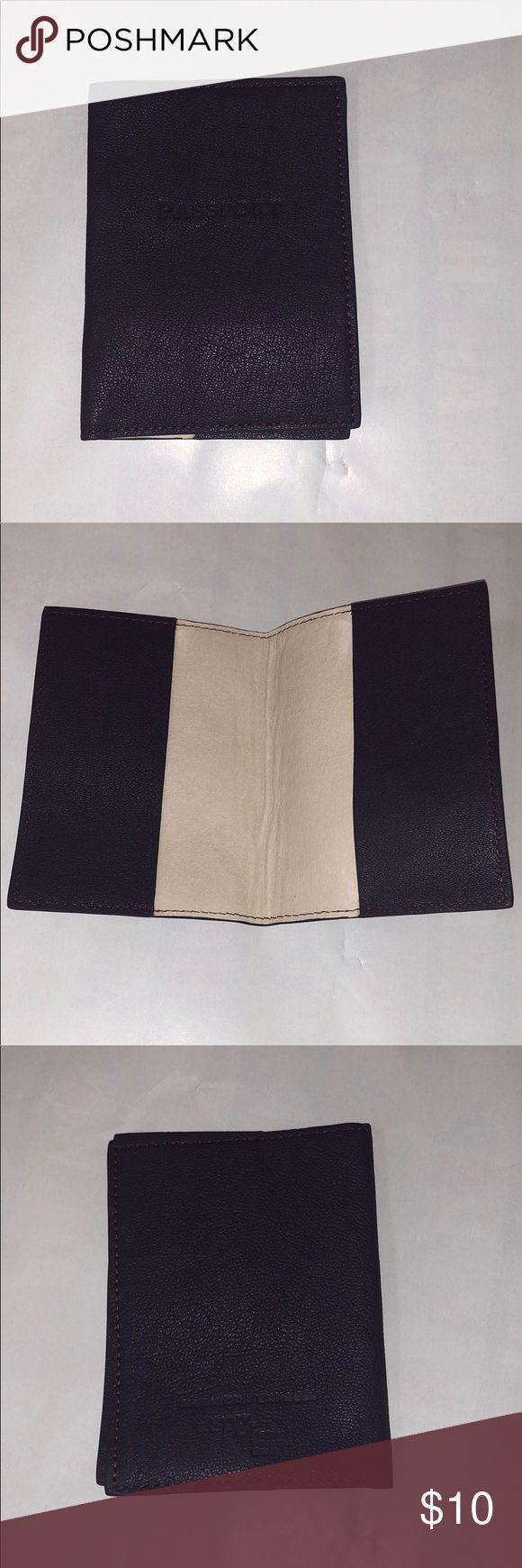BRAND NEW passport case Purple leather passport case Accessories