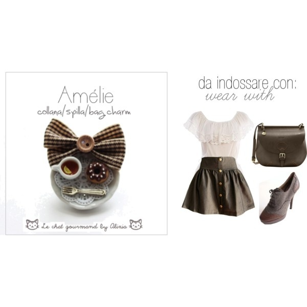 Amelie - necklace - Le chat gourmand by Alixia, created by alixia88.polyvore.com