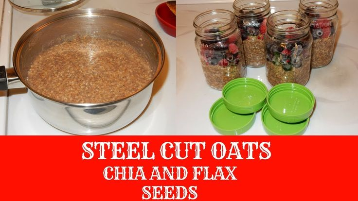 how to cook steel cut oats with chia seeds