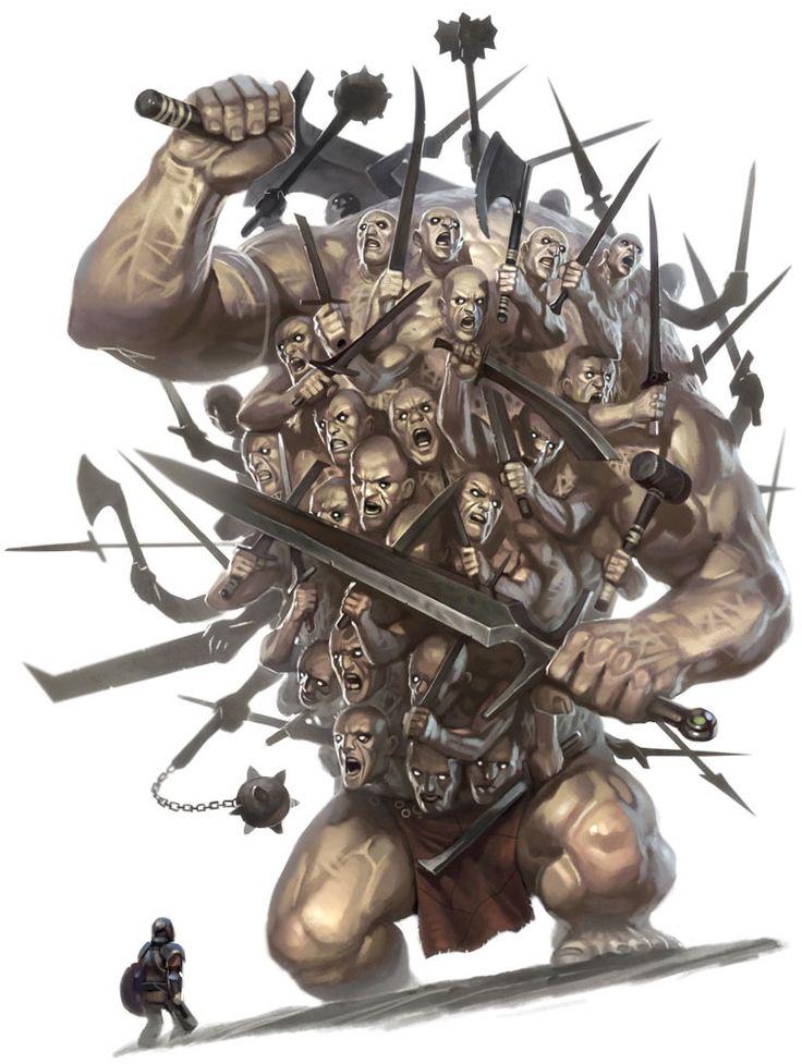 Greek Monsters | ... Hekatonkheir Centemani Hundred Handed Greek Mythology Myth Monster-1