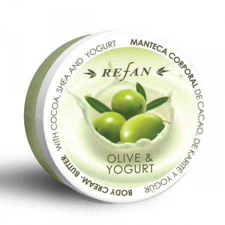 Olíva és Joghurt testvaj - Természetes növényi olajokban és vajakban gazdag testvaj, puhítja a bőrt, és mélyen táplálja azt. A joghurt koncentrátum hosszútávú hidratáló hatású, kiegyensúlyozó és megvédi a bőrt az irritáció ellen. Összetevői miatt érzékeny bőrre is ajánlott. Parabén mentes! ©Refantázia