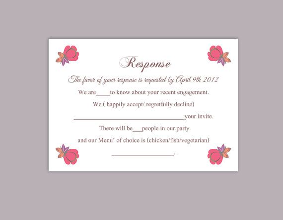 25+ ide terbaik DIY wedding rsvp cards di Pinterest - party rsvp template
