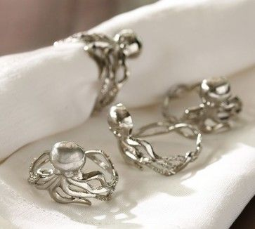 Octopus Napkin Ring eclectic-napkin-rings