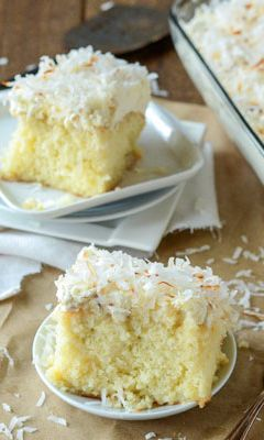 Coconut Tres Leches Cake - This Coconut Tres Leche Cake is everything you love about the standard tres leche cake, but coconut flavored. It is sweet, light and easy to make…all while still looking impressive for your guests! Perfect for anniversaries, birthdays, parties, family reunions...or anytime a sweet treats are called for. You'll be the hit of the Cinco de Mayo festivities when you bring this dessert to the celebration.
