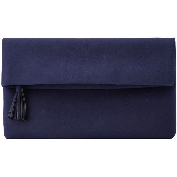 John Lewis Shilps Foldover Clutch Bag found on Polyvore featuring bags, handbags, clutches, malas, navy, fold over purse, evening handbags, navy blue purse, navy blue clutches and blue handbags