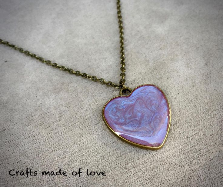 Pink/lilac heart shaped pendant by CraftsMadeOfLoveShop on Etsy https://www.etsy.com/nz/listing/501835764/pinklilac-heart-shaped-pendant