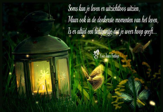 Soms kan je leven er uitzichtloos uitzien maar ook in de donkerste momenten van het leven is er altijd een lichtpuntje dat je weer hoop geeft...