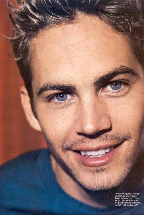 """Paul Walker: """"I wasn't a player in high school by any means. I was the nice guy. From what I gather now, a lot of girls had crushes on me, which is kinda funny."""""""