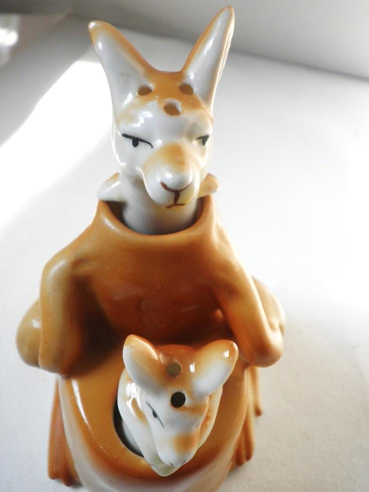 Unusual Kangaroo Salt And Pepper Shakers By Pascalene On