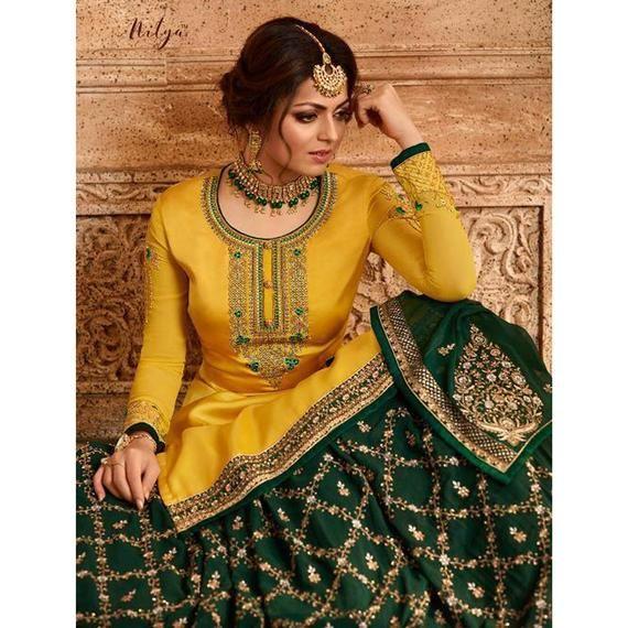 Designer Pakistani Hand Embroidered Salwar Kameez with Dupatta  Wedding Wear  Indian Dress  Handmade  New Bollywood Style Bridal Dress