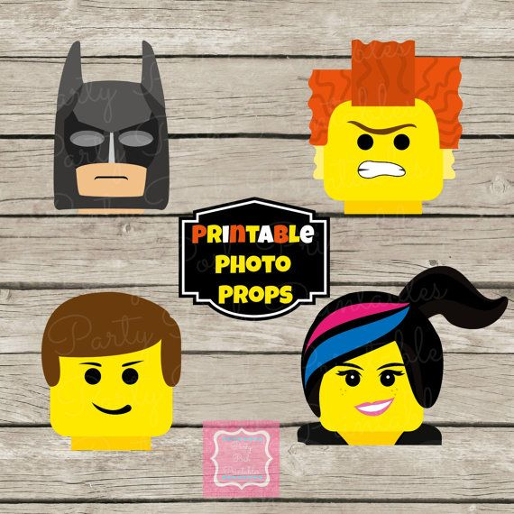 Photo Props Instant Download Lego Movie Emmett Wild Style