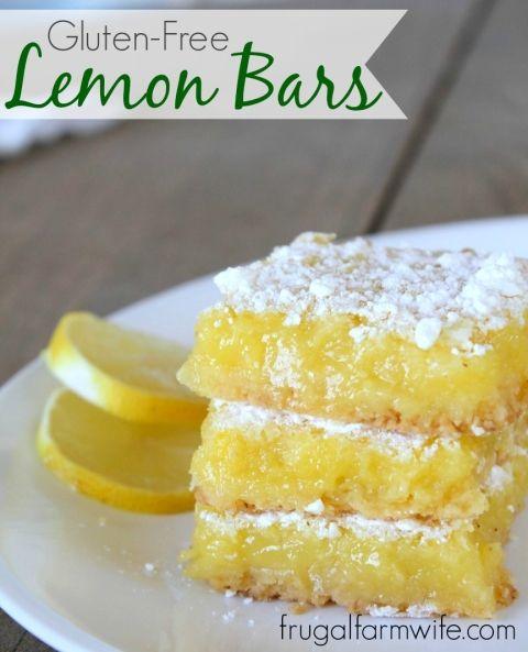 Gluten-Free Lemon Bars Recipe