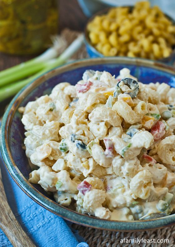 Classic Macaroni Salad - a great addition to any summer BBQ.  Super creamy and flavorful!