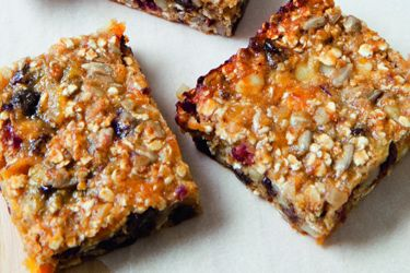 Kellys energy bars - some subbing with rice flour & flax seeds req.