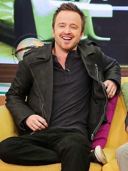 Aaron Paul has plenty to smile about as he promotes his new action film, Need for Speed, during a taping of Univision's Despierta América in Miami. http://www.people.com/people/gallery/0,,20795873,00.html#30117747