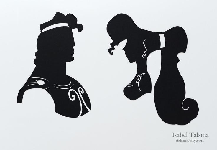 Hercules (Megara and Hercules) Disney Silhouettes