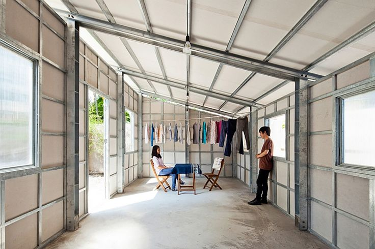 Prefab Tiny House with Steel Lattice Structure, Assembles in 3 Hours  Only problem...the walls have openings at the top at the roof line...in a tropical setting would invite all the insects, birds, etc inside.  No thanks!