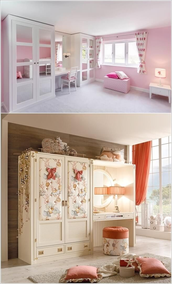 Add a Stylish Vanity Table to Your Little Girl's Room